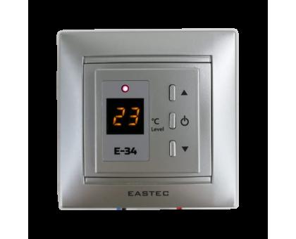 Купить Терморегулятор для теплого пола EASTEC E-34 серебро в Новосибирске
