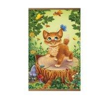Пленочный обогреватель домашний очаг котенок