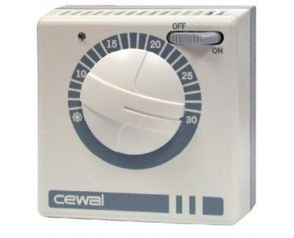 Купить Терморегулятор со встроенным датчиком воздуха Cewal RQ30, механический, накладной в Новосибирске