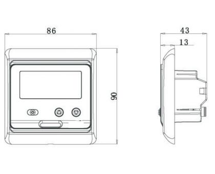 Купить Терморегулятор E 51.716 (золото), электронный, программируемый в Новосибирске