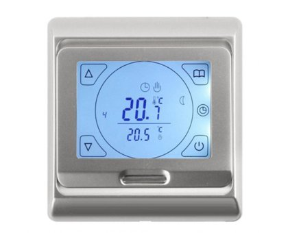 Купить Терморегулятор E 91.716 (серебро), программируемый, сенсорный в Новосибирске