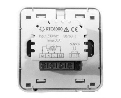 Купить Программируемый терморегулятор RTC 6000 белый (6 кВт) в Новосибирске