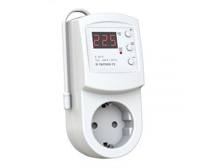 Купить Терморегулятор в розетку Terneo RZ, электронный, цифровой в Новосибирске