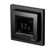 Терморегулятор Devireg Touch Black (черный), сенсорный