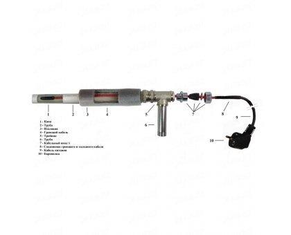 Купить Греющий кабель внутрь трубы Heatus SMH 20 Вт 2 м в Новосибирске