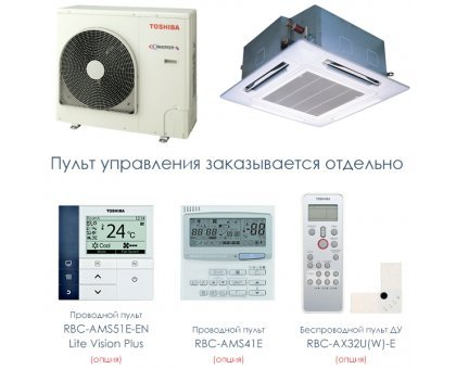 Купить Кассетный кондиционер Toshiba RAV-SM804UT-E/RAV-SP804AT-E в Новосибирске