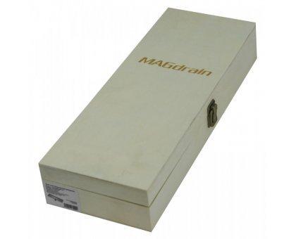 Купить Трап сантехнический MAGdrain JC 600 Q50-B (80*600, магнитный клапан, Нерж., 2 слив. отверстия) в Новосибирске
