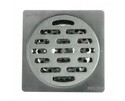 Купить Трап сантехнический MAGdrain PC 01 Q50-G (100*100, магнитный клапан, Нерж. Полиров. блестящий) в Новосибирске