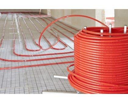 Купить Труба из сшитого полиэтилена Stout PE-Xa EVOH 16*2.0 из полиэтилена с антидиффузионным слоем, для напольного отопления, красная в Новосибирске
