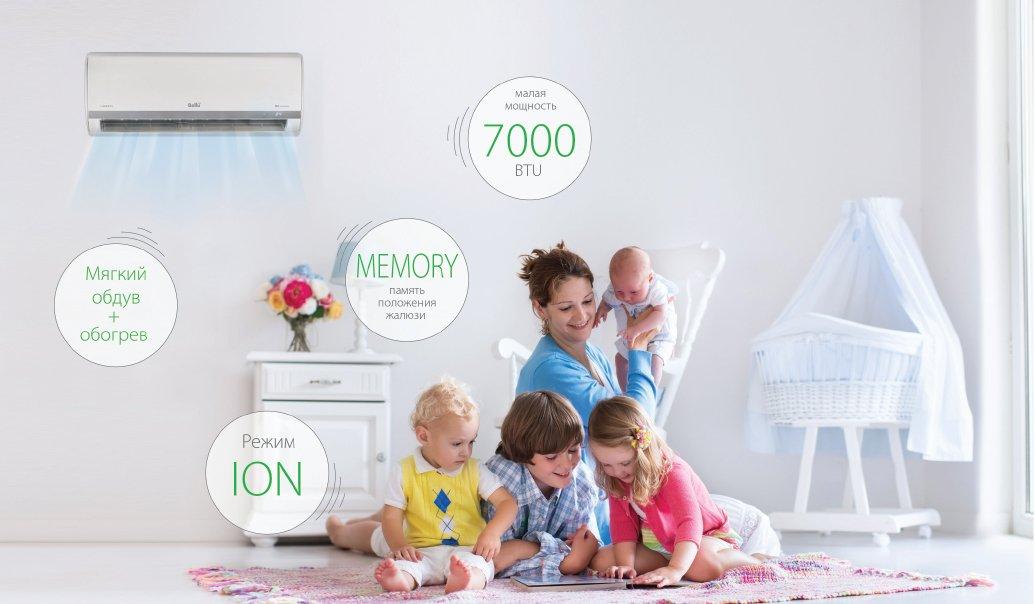 Инверторный кондиционер Ballu серии Lagoon DC Inverter - идеальный выбор для детской комнаты